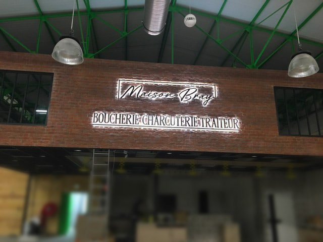 La Boucherie Bray – Enseigne lumineuse