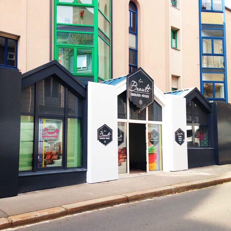 Brault Chocolaterie – Adhésif vitrine