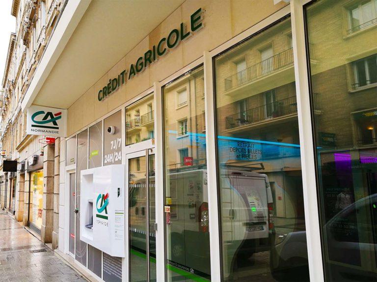 Crédit Agricole Enseigne Normandie – Adhésif vitrine