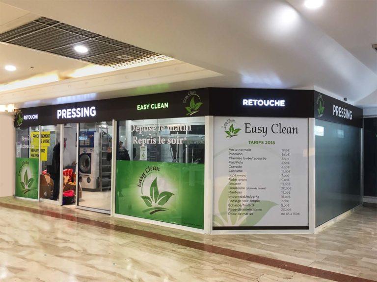 Easy clean – Enseigne et vitrine