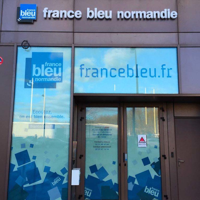 France Bleu Basse-Normandie – Adhésif vitrine