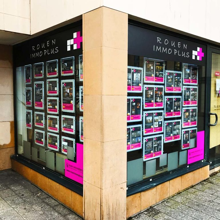 ImmoPlus Rouen – Adhésif vitrine