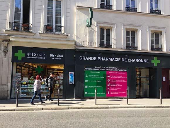 Pharmacie Charonne Enseigne lumineuse