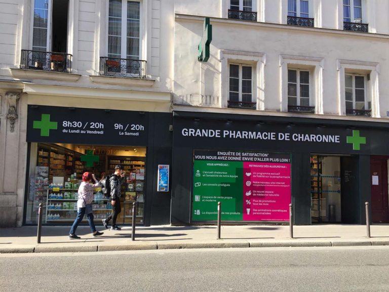 Pharmacie Charonne – Enseigne lumineuse