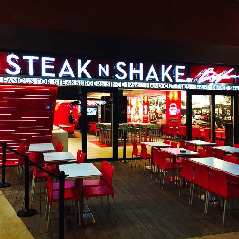 Steak N' Shake – Enseigne lumineuse
