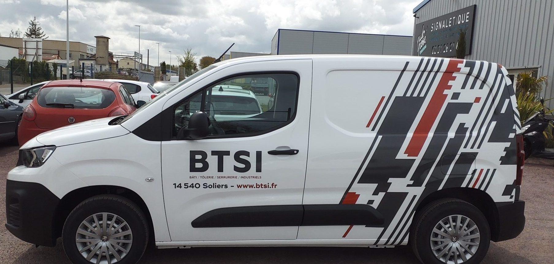 Nouveau covering véhicule pour la société BTSI