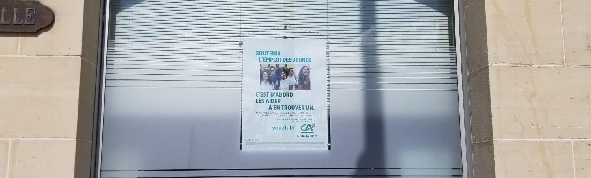 De nouveaux adhésifs pour l'agence du Crédit Agricole à Trouville-sur-Mer
